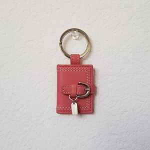 Coach Pink Leather Bag Charm